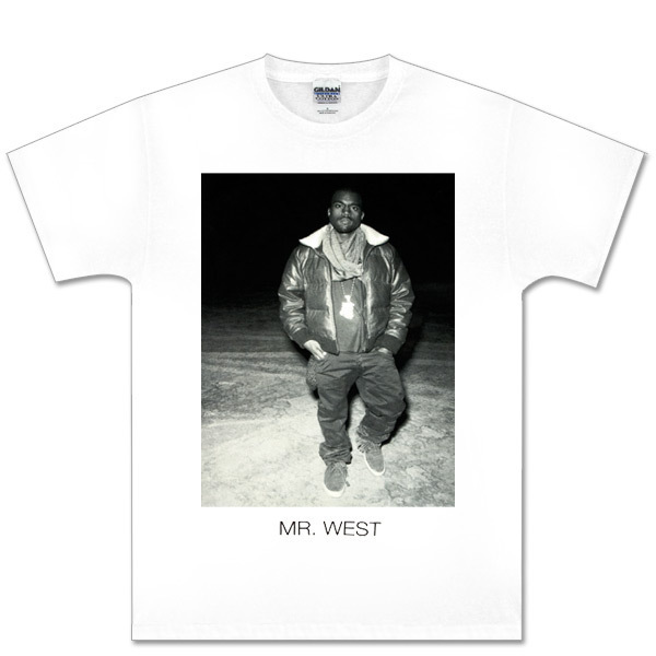 Kanye West White Black and White Photo Tee