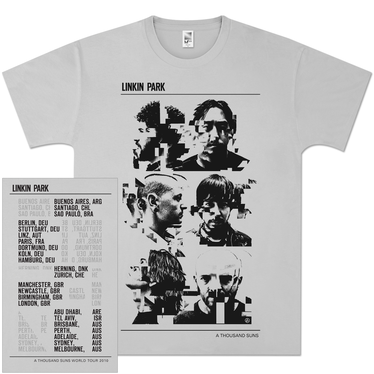 Linkin Park Glitch Portraits T-Shirt