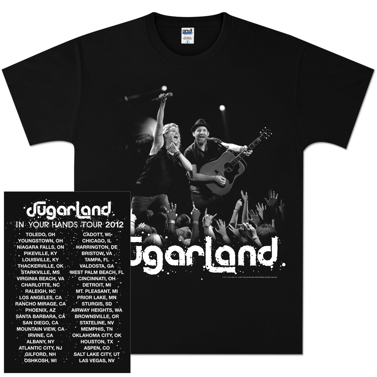 Sugarland Live Action Tour T-Shirt