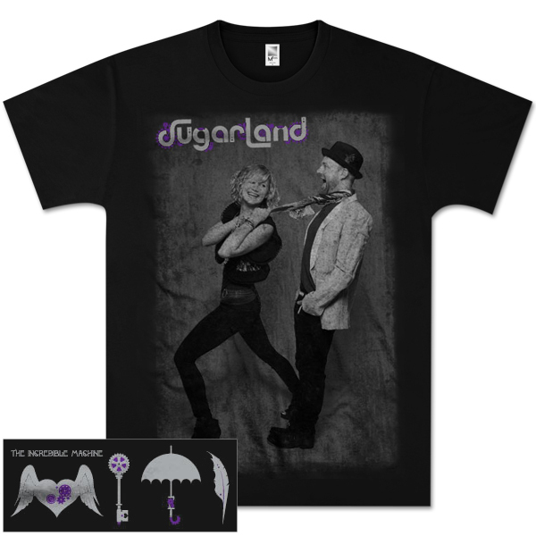 Sugarland Black and White Photo All Over T-Shirt