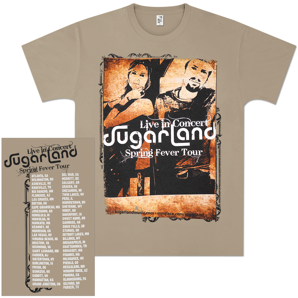 Sugarland Spring Fever Tour T-Shirt