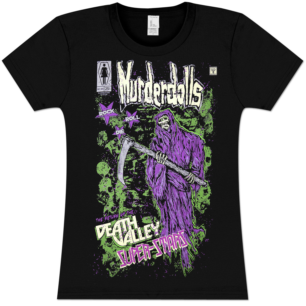 Murderdolls Death Valley Superstar Girls' Fitted T-Shirt