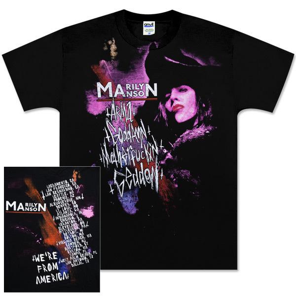 Marilyn Manson Geddon Stain Tour T-Shirt