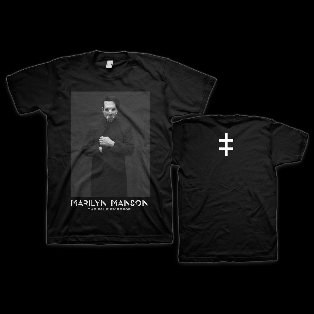marilyn manson cloaked t shirt shop the musictoday. Black Bedroom Furniture Sets. Home Design Ideas