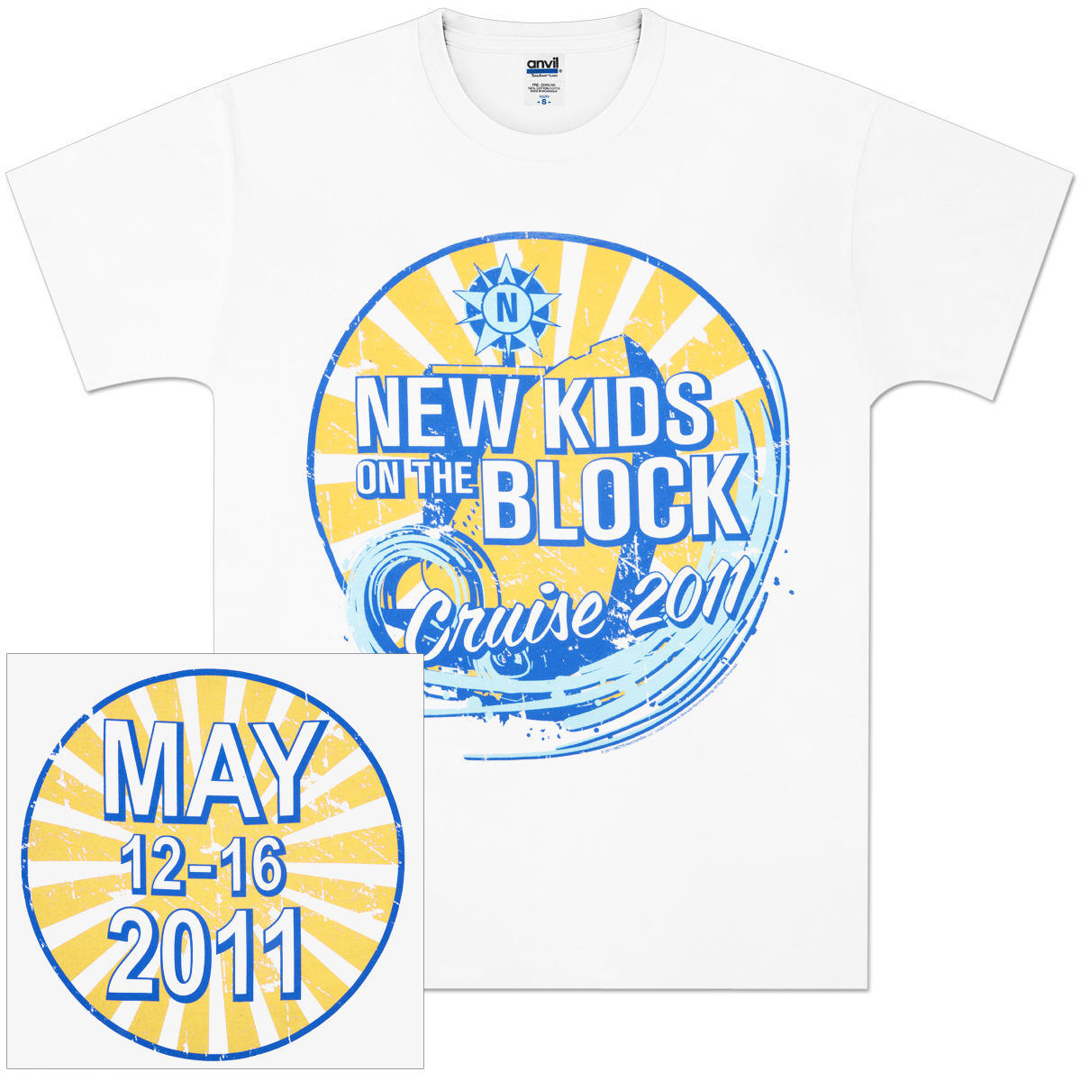 New Kids on the Block 2011 Cruise Wave T-Shirt