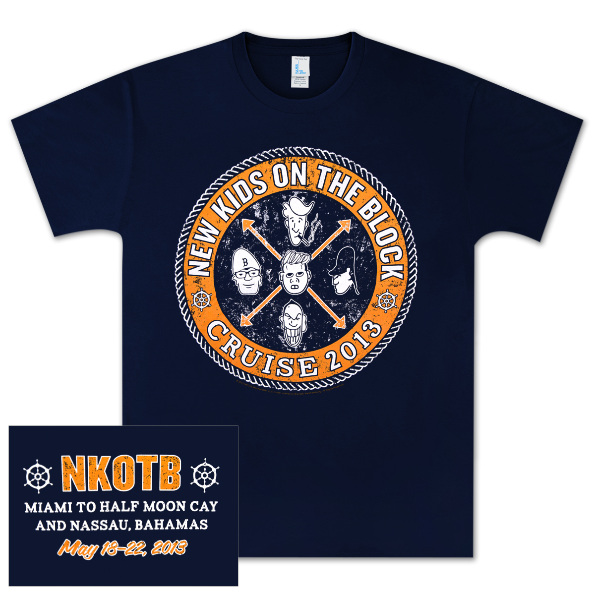 New Kids On The Block Nautical Seal T-Shirt