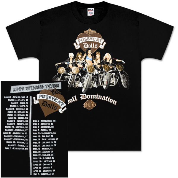 Pussycat Dolls Motorcycles Tour T-Shirt