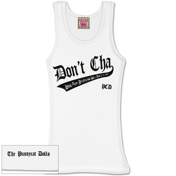 Don't Cha Black Logo Womens Tank