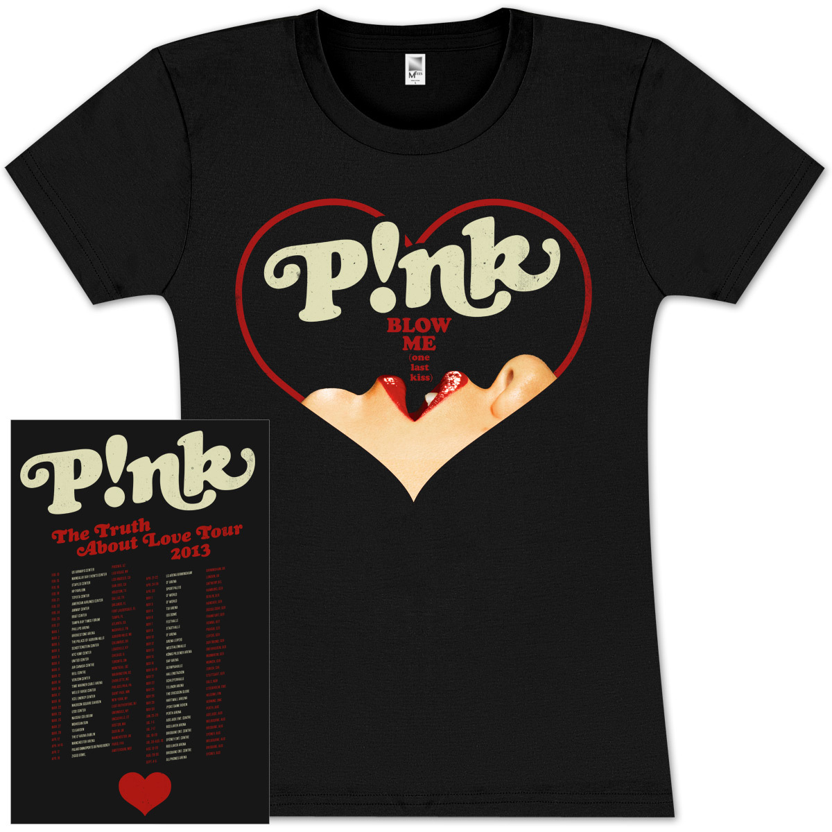P!nk Blow Heart Jr Tour T-Shirt