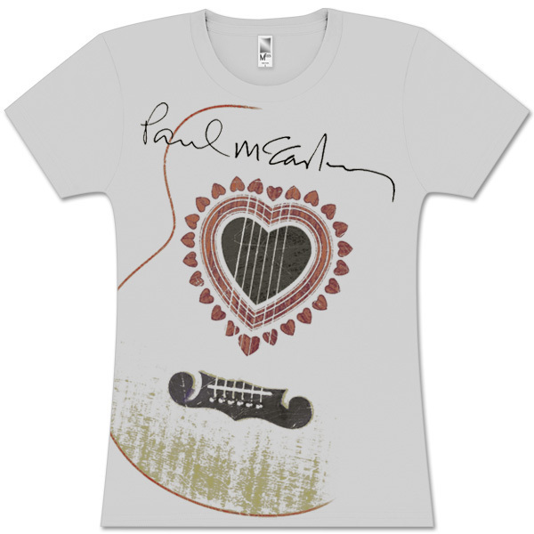 Paul McCartney Acoustic Guitar Silver Babydoll