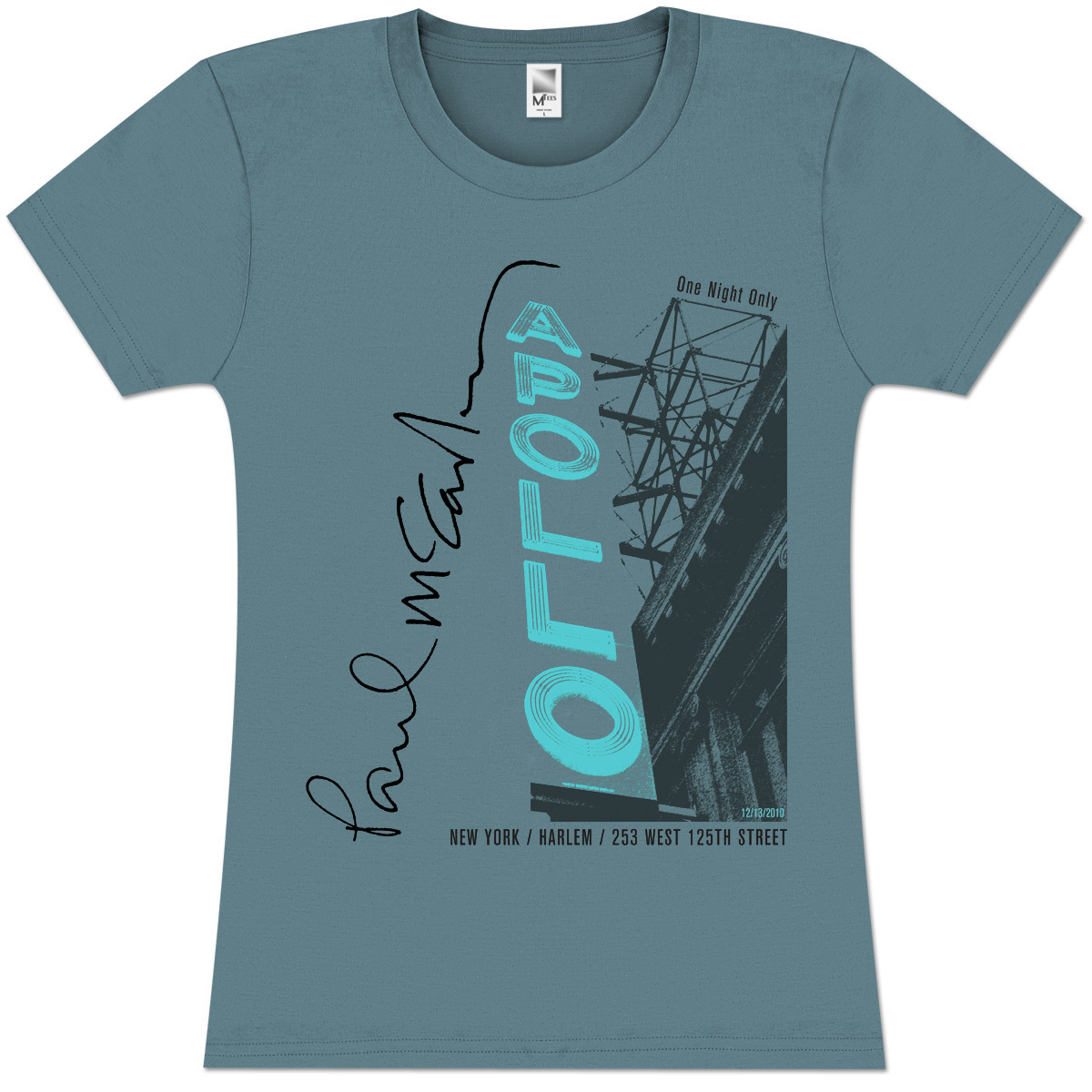 Paul McCartney Neon Marquee Girlie T-Shirt