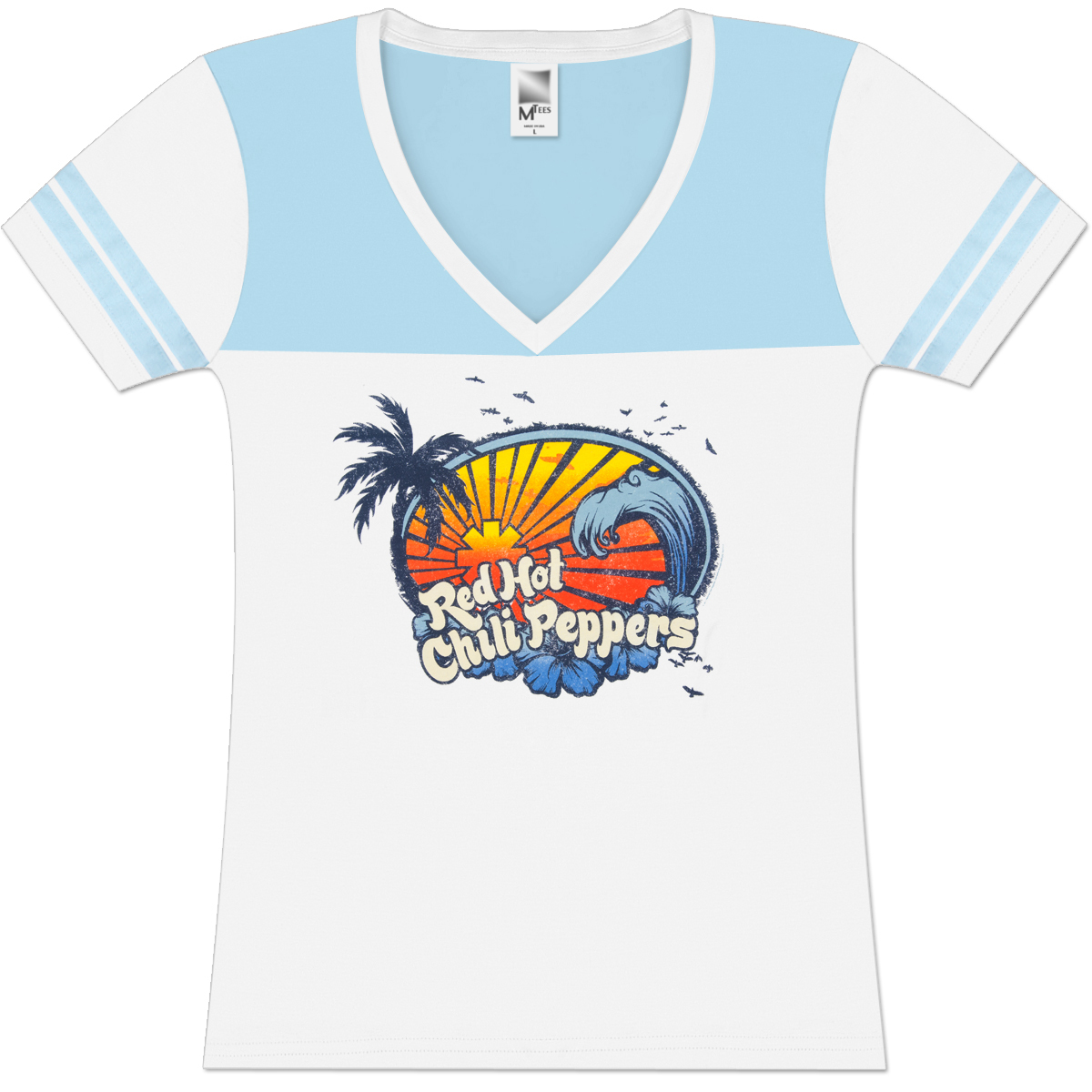 Red Hot Chili Peppers Surf Football Girlie T-Shirt