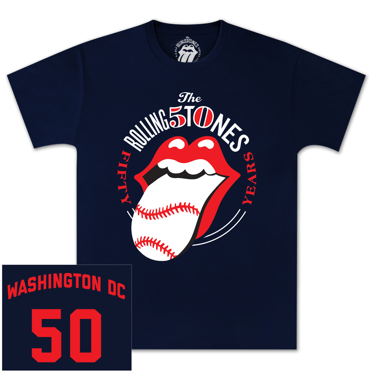 The Rolling Stones 50 and Counting Washington D.C. Event T-Shirt