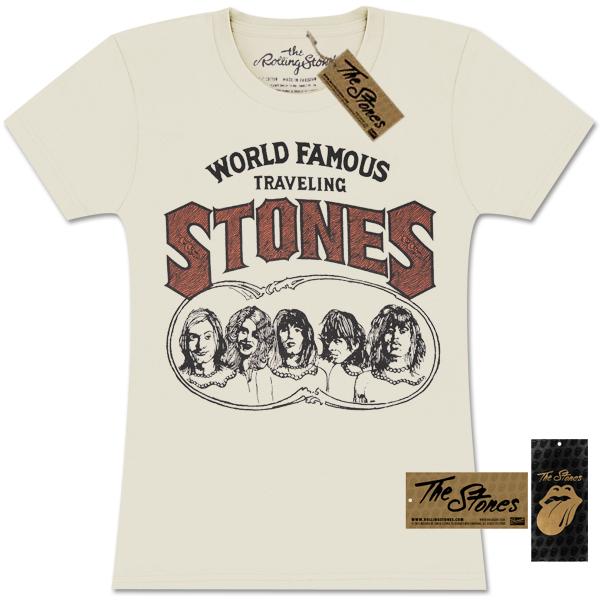 Rolling Stones World Famous Traveling Stones Girlie T-Shirt