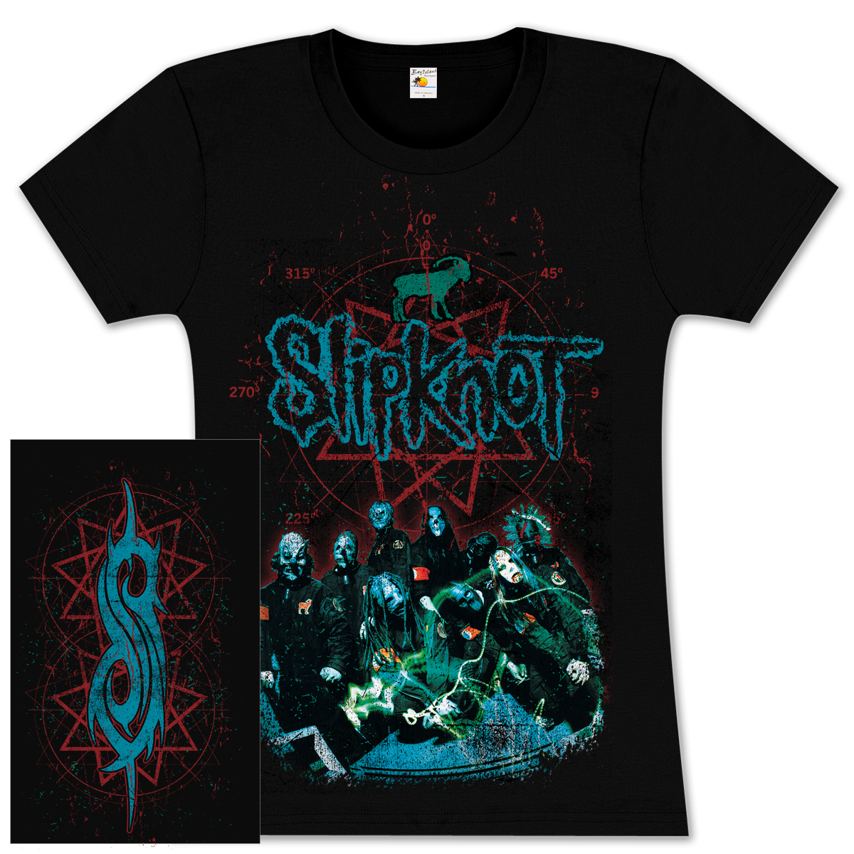 Slipknot Blue Group Girlie T-Shirt