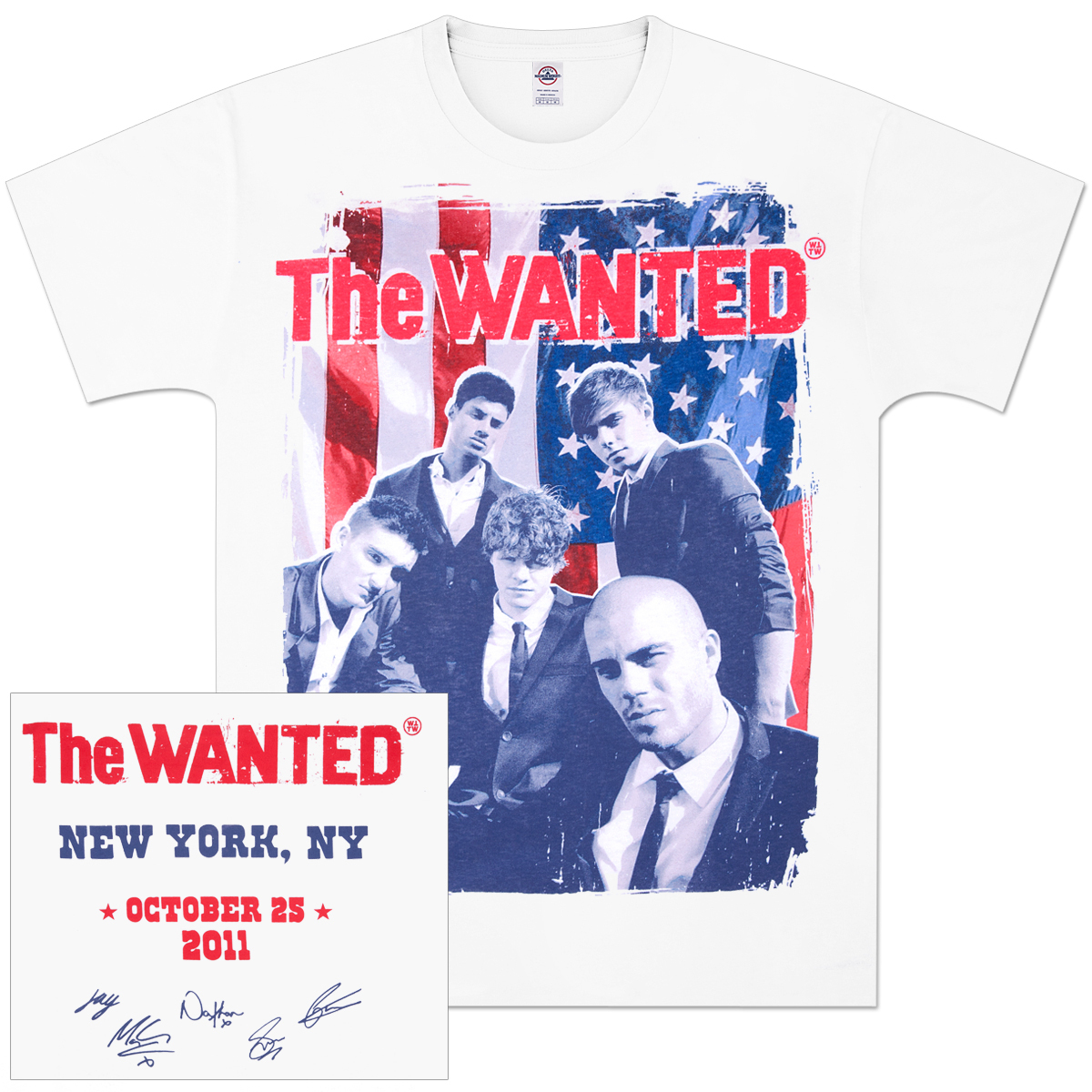 The Wanted Stars 'N Stripes T-Shirt
