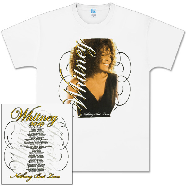 Whitney Houston Type Embrace White T-Shirt