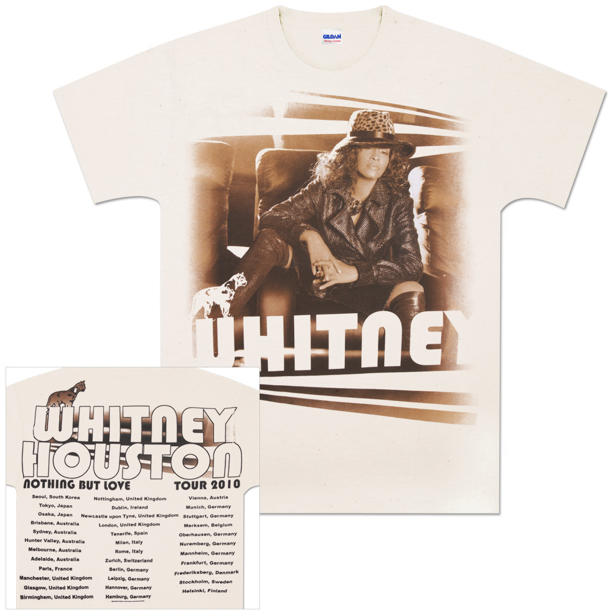 Whitney Houston Lion Crest Tour T-Shirt