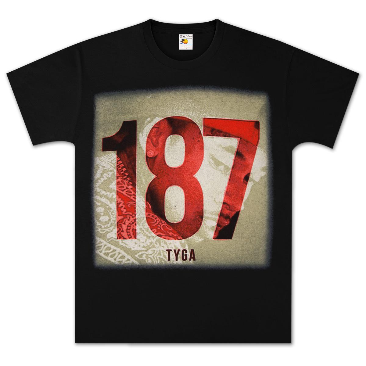tyga 187 bandana t shirt shop the bravado superstore. Black Bedroom Furniture Sets. Home Design Ideas