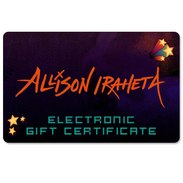 Allison Iraheta Electronic Gift Certificate