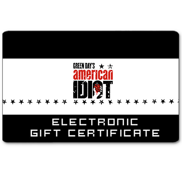American Idiot the Musical Electronic Gift Certificate