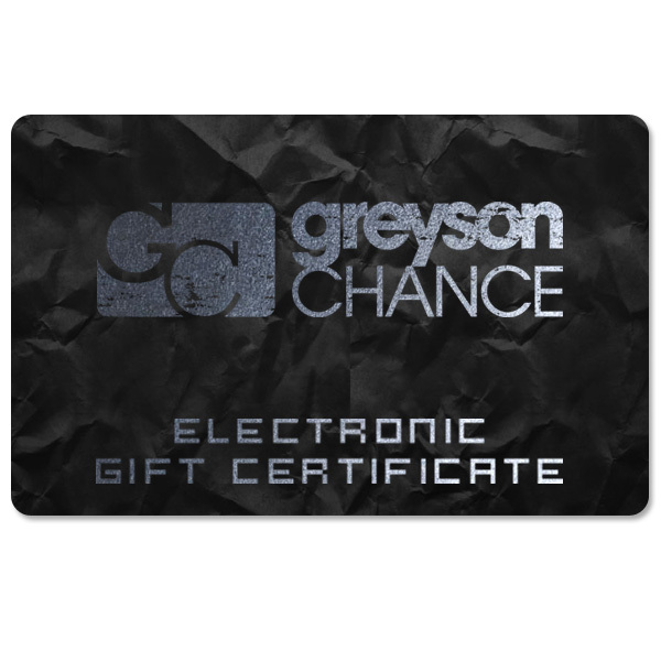 Greyson Chance Electronic Gift Certificate