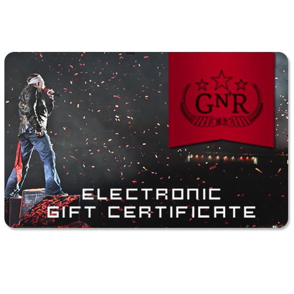 Guns N' Roses Electronic Gift Certificate