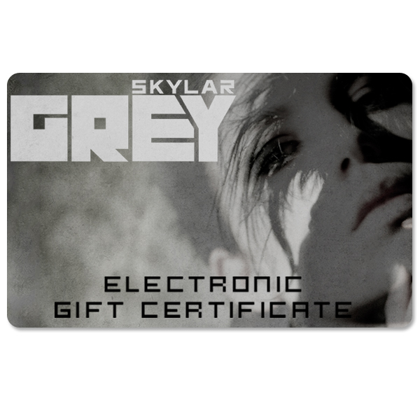 Skylar Grey Electronic Gift Certificate