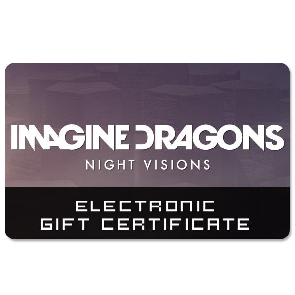 Imagine Dragons Electronic Gift Certificate