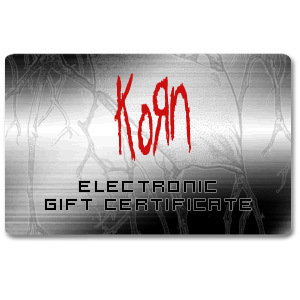 KoRn Electronic Gift Certificate