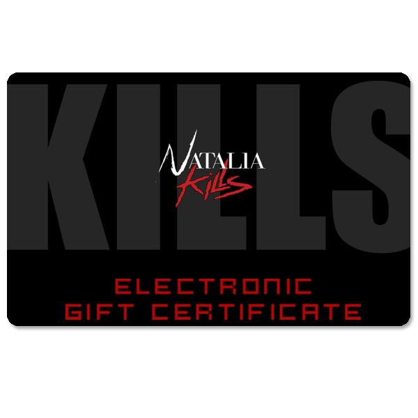 Natalia Kills Electronic Gift Certificate