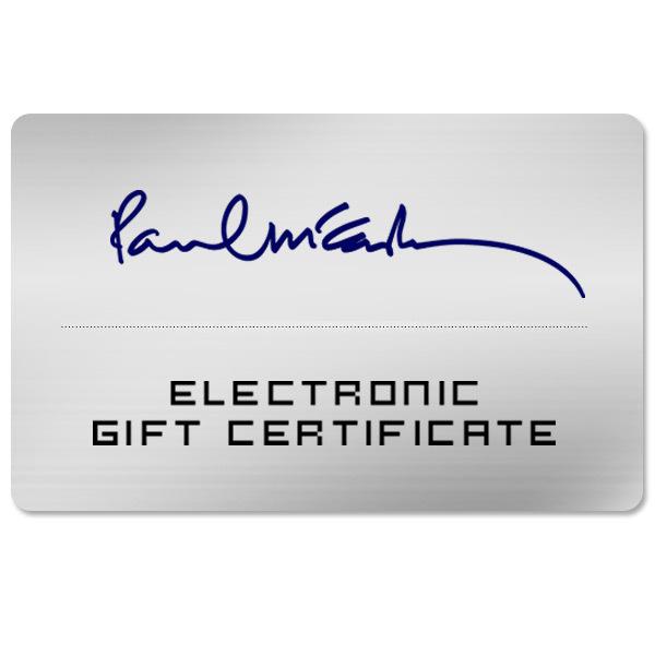 Paul McCartney Eletronic Gift Certificate