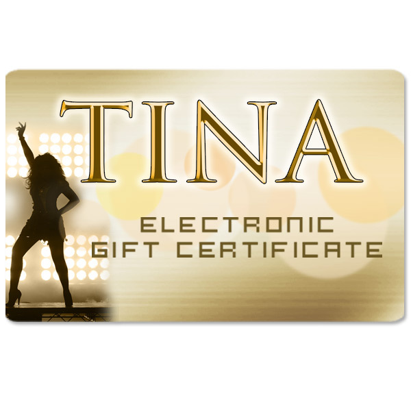 Tina Turner Electronic Gift Certificate