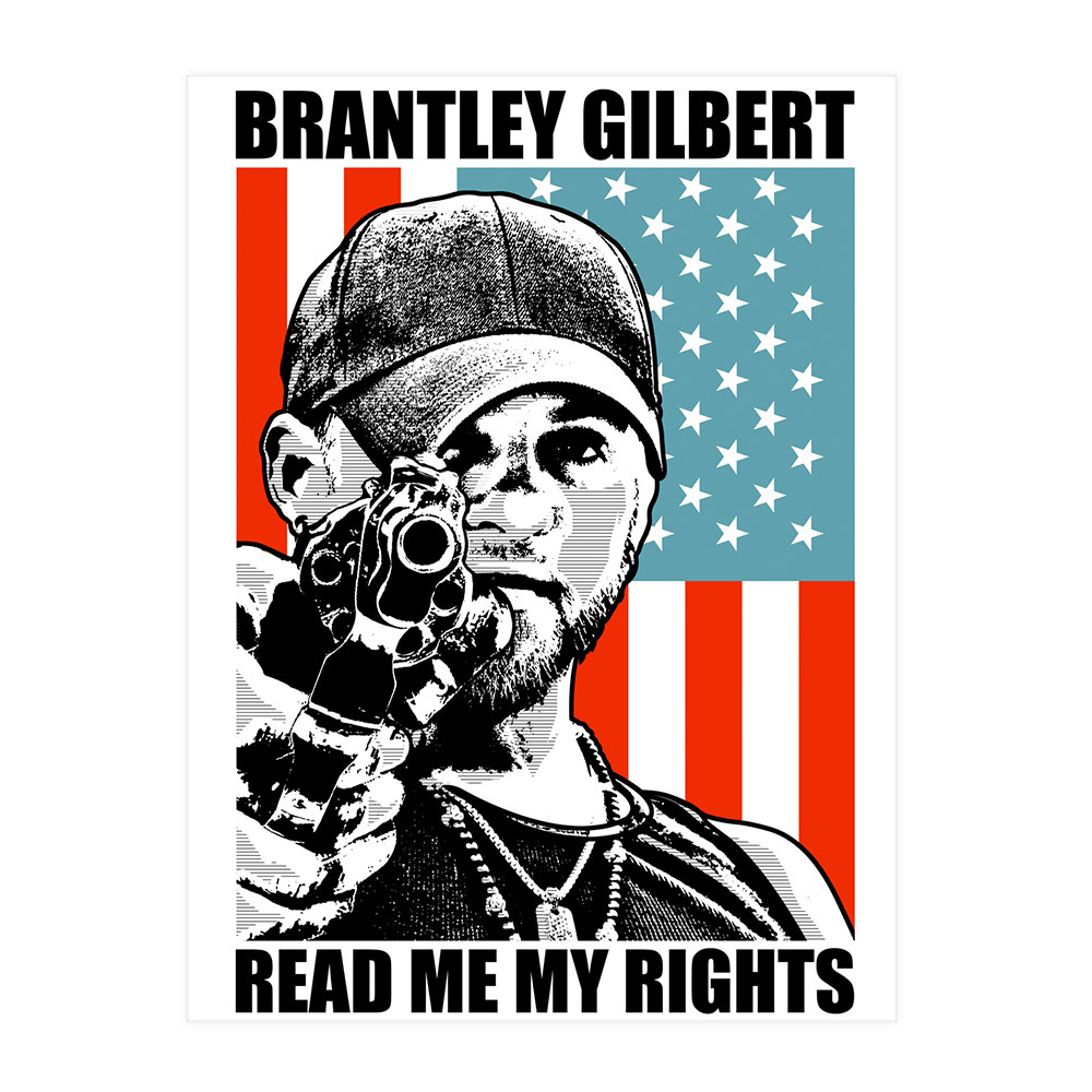 READ ME MY RIGHTS Poster | Musictoday Superstore Brantley Gilbert Flag Wallpaper