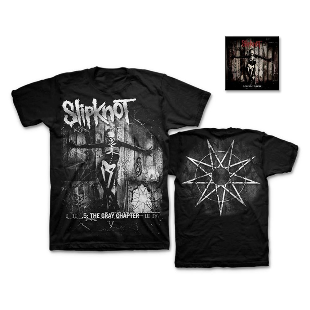 Slipknot .5: The Gray Chapter T-Shirt/Music Bundle
