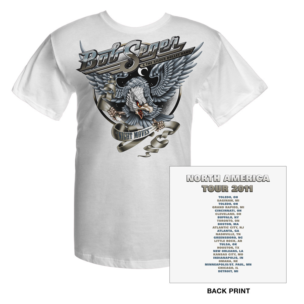 Bob Seger White 2011 Night Moves Tour Tee