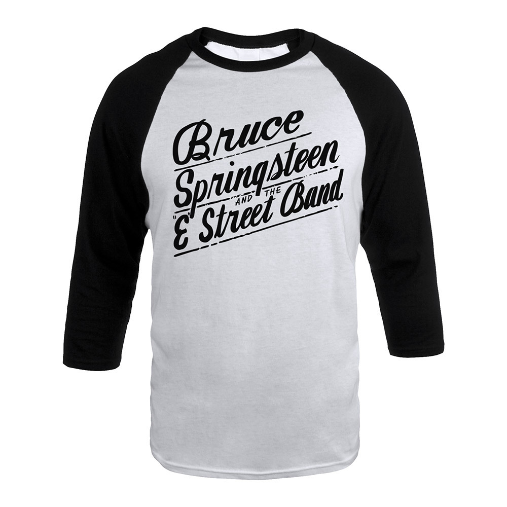 Bruce Springsteen and the E Street Band Script Raglan Tee
