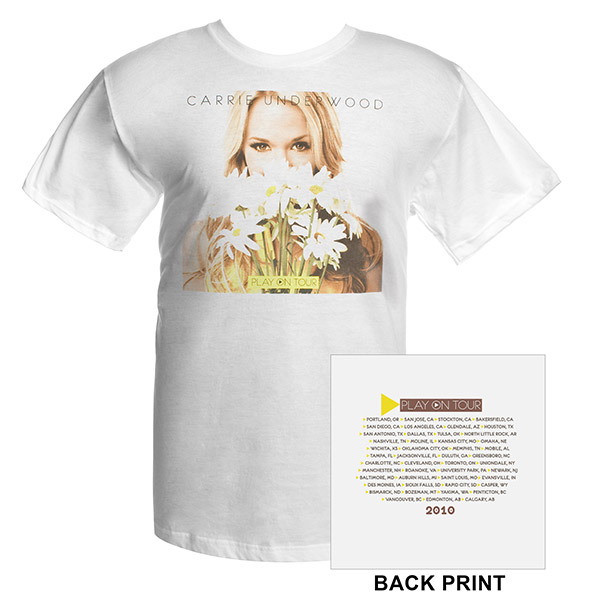 Carrie Underwood Official Play On Tour Daisy Photo T-Shirt