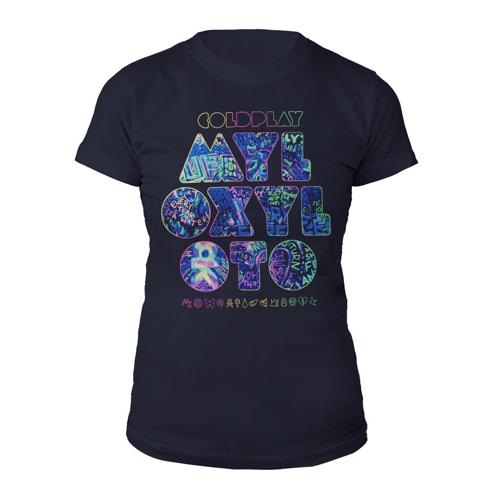Coldplay Mylo Xyloto Grafitti Women's Tee*