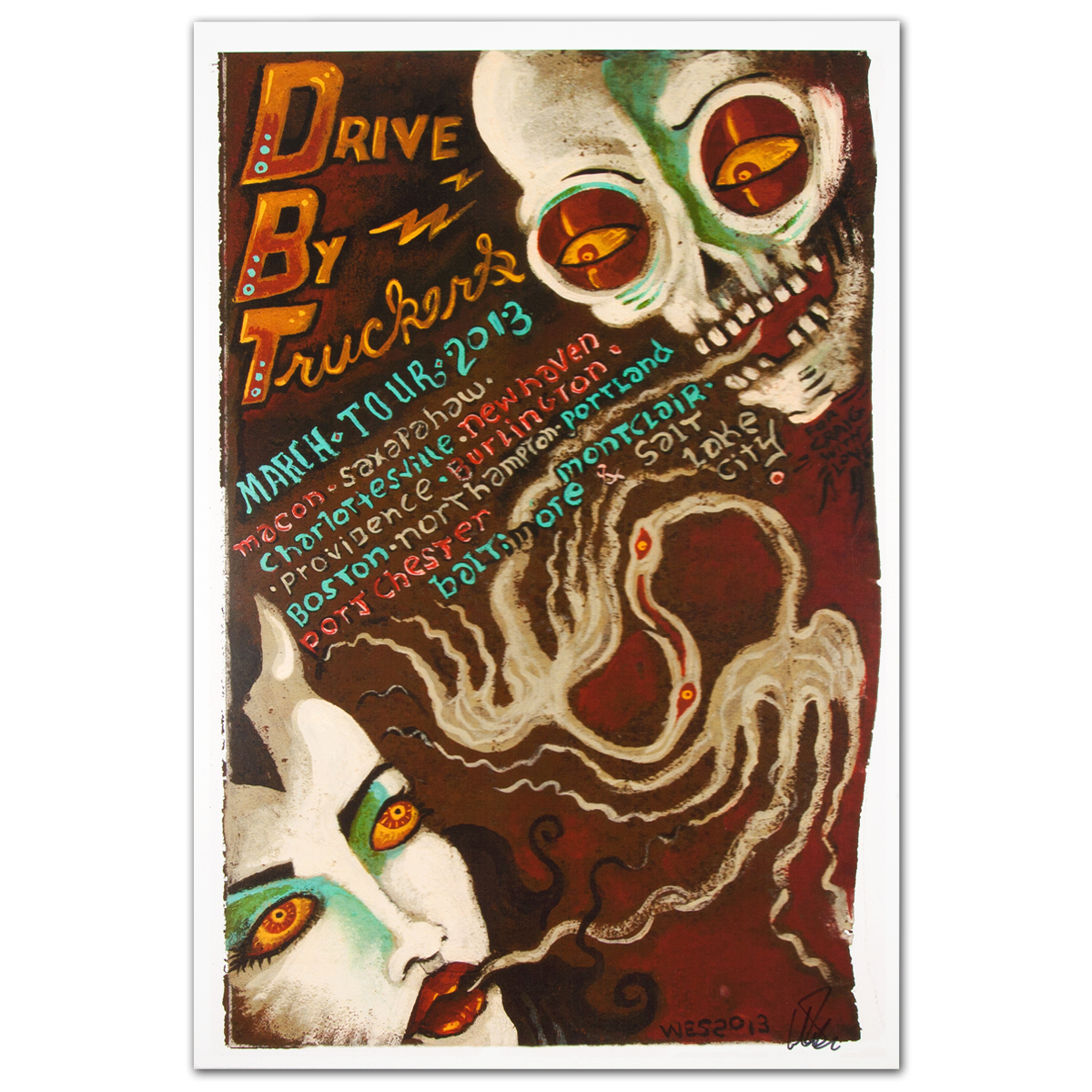 Drive-By Truckers March Tour 2013 Poster