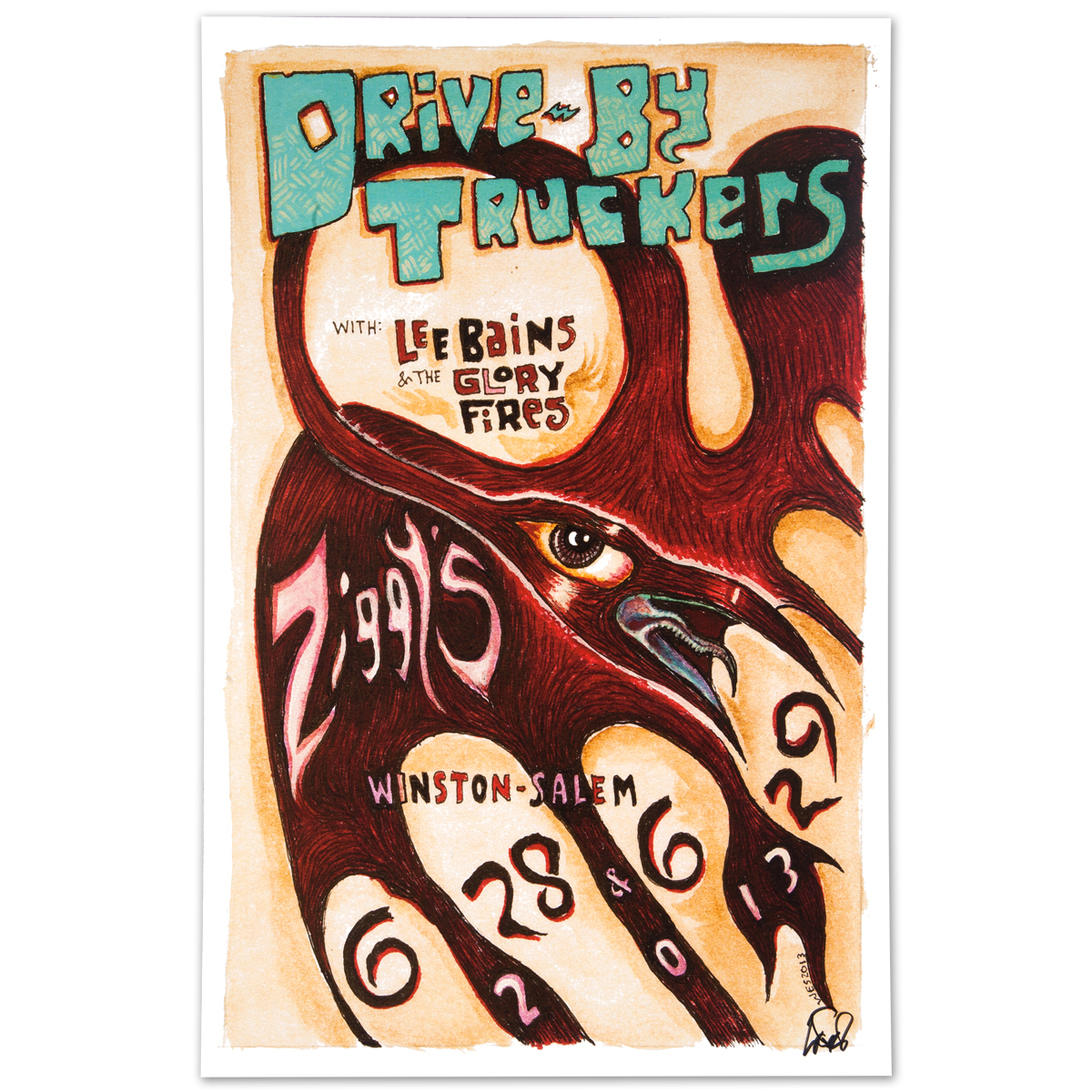 Drive-By Truckers - June 28-29, 2013 Winston-Salem, NC Poster