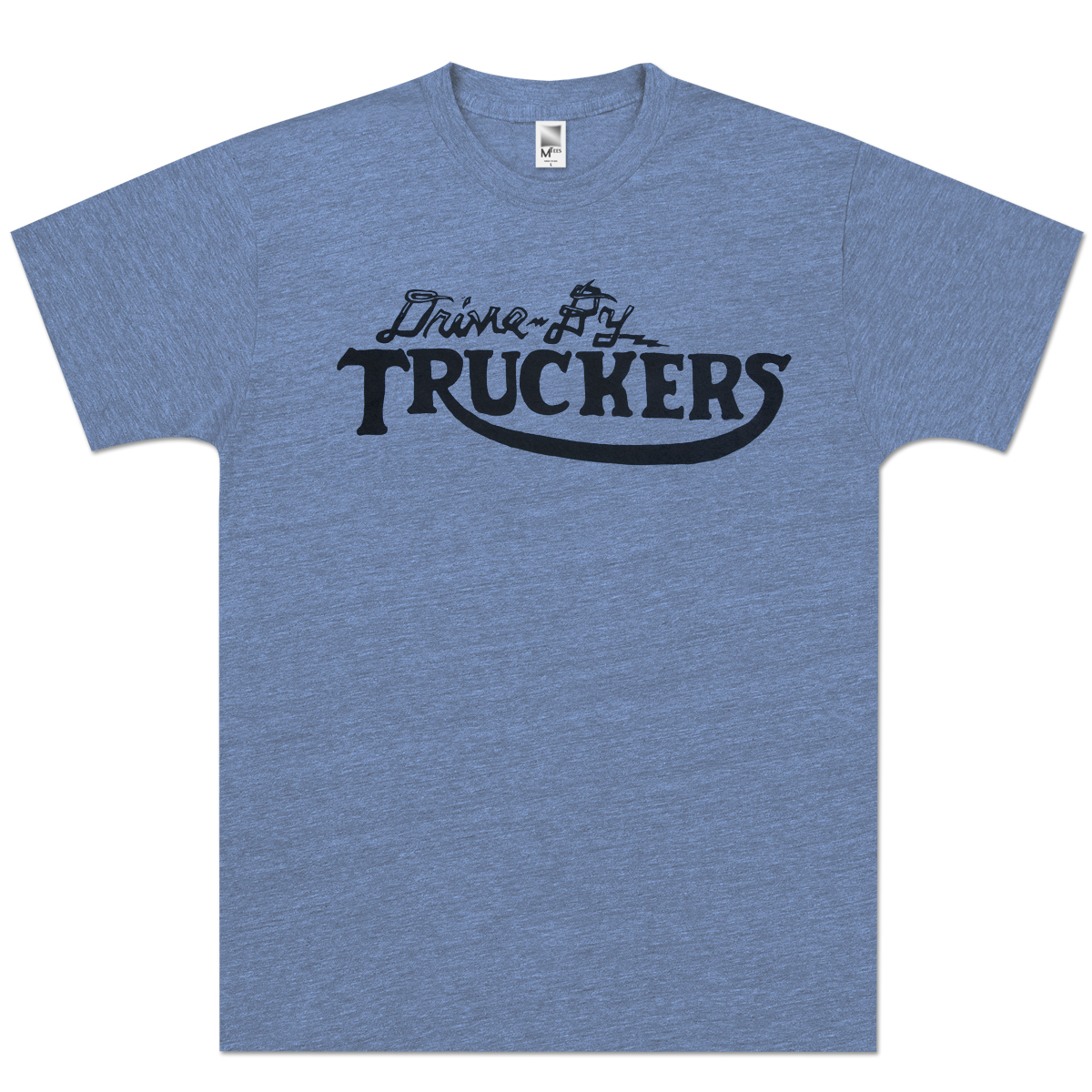 Drive-By Truckers Unisex Heather Blue Track T-Shirt