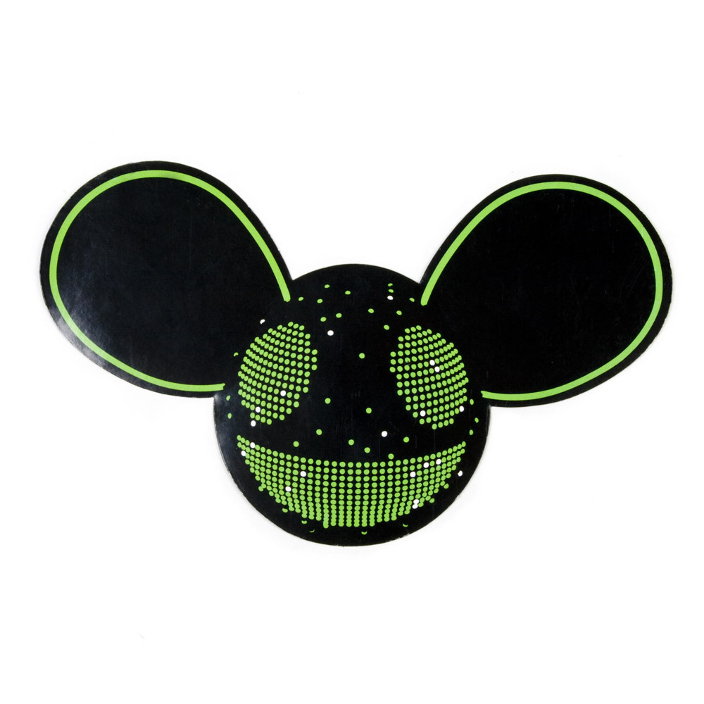 deadmau5 Green/Black Mau5head Sticker