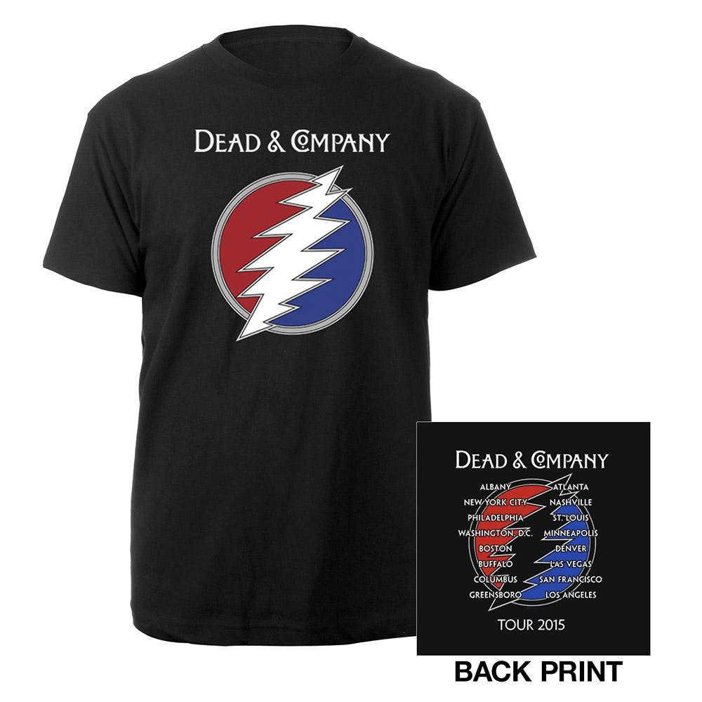 Dead company logo t shirt musictoday superstore for T shirts for business logo