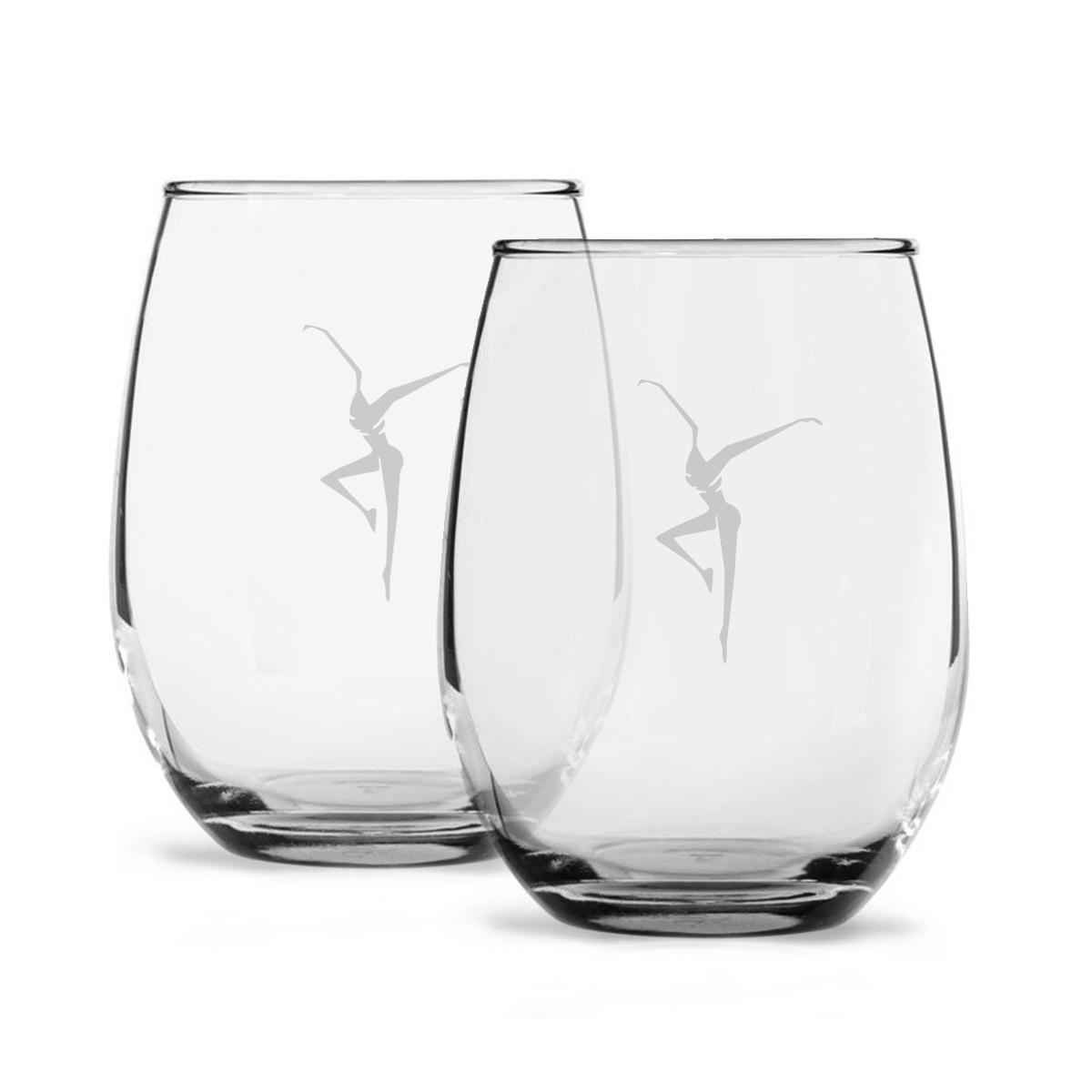 Stemless Wine Glass Set