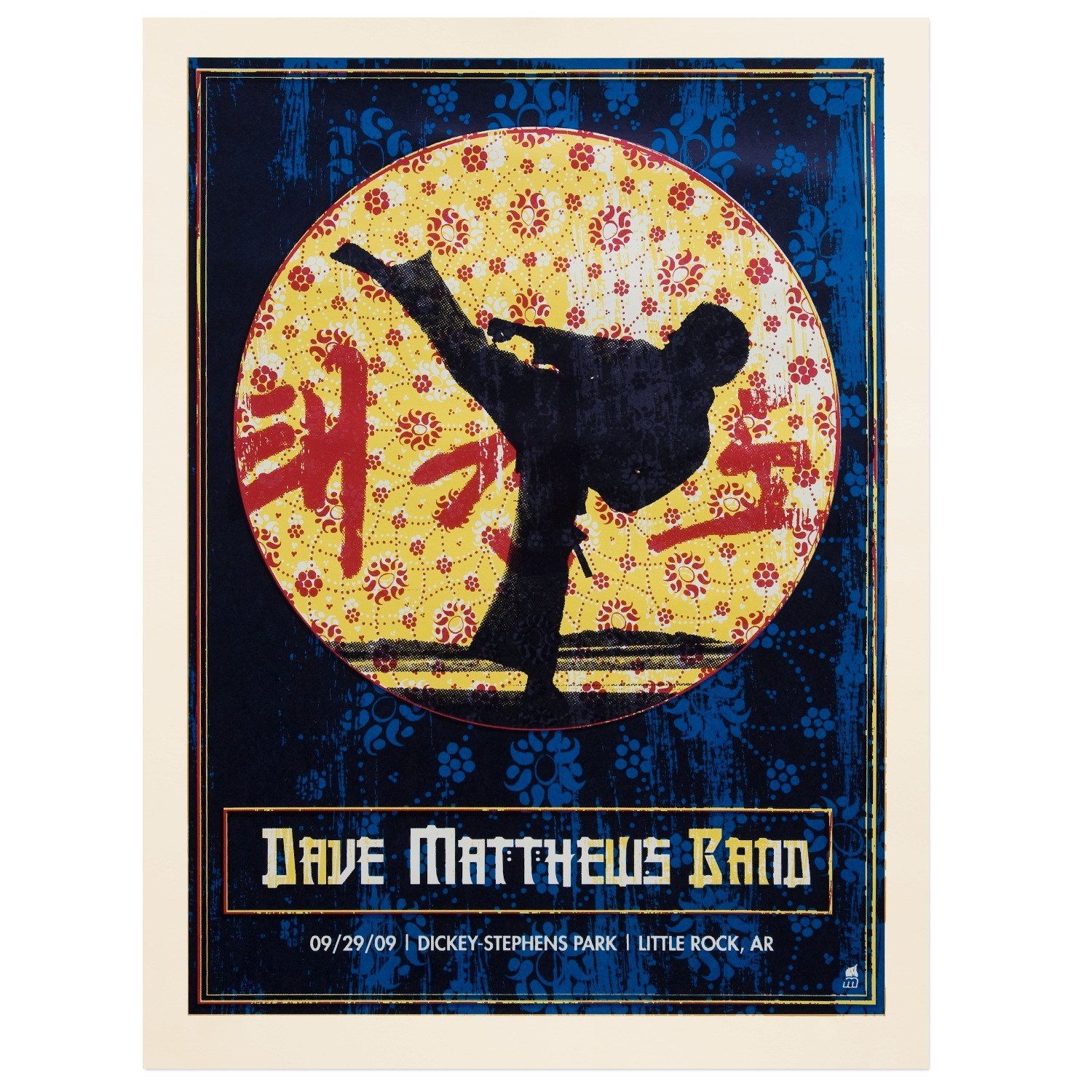 DMB Little Rock, AR 09/29/09 Show Poster