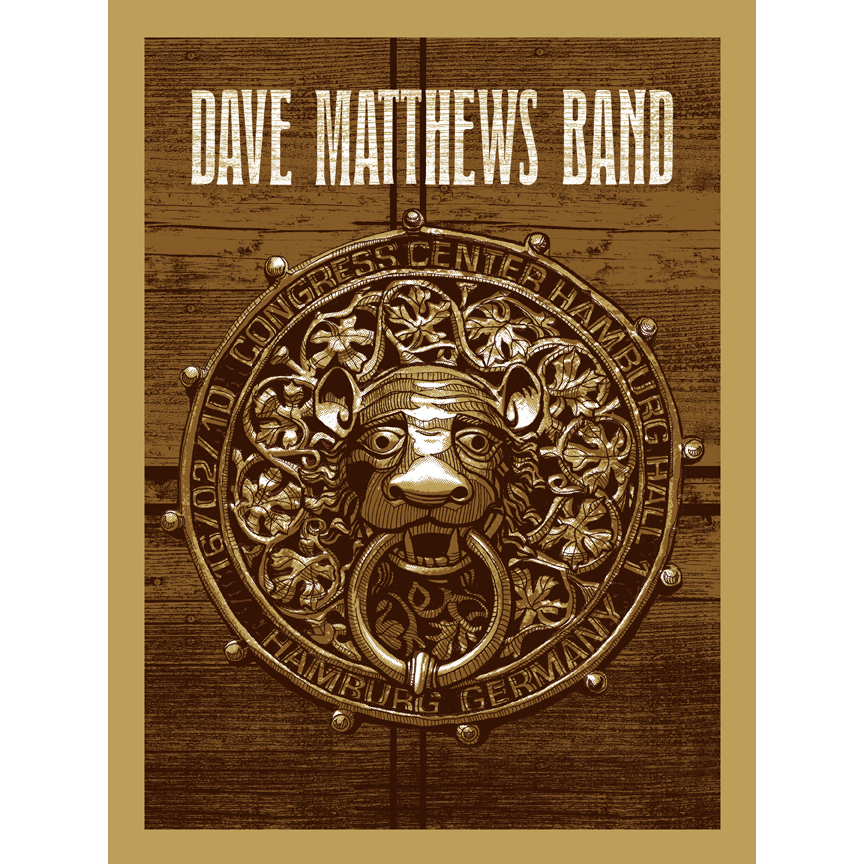 DMB Hamburg, Germany 02/16/10 Show Poster