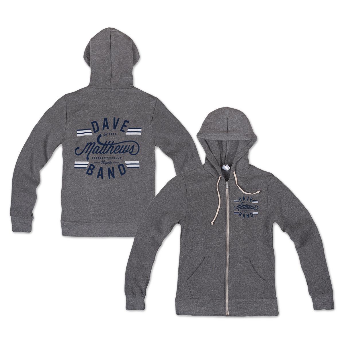 Dave Matthews Band Grey Zip Hoodie