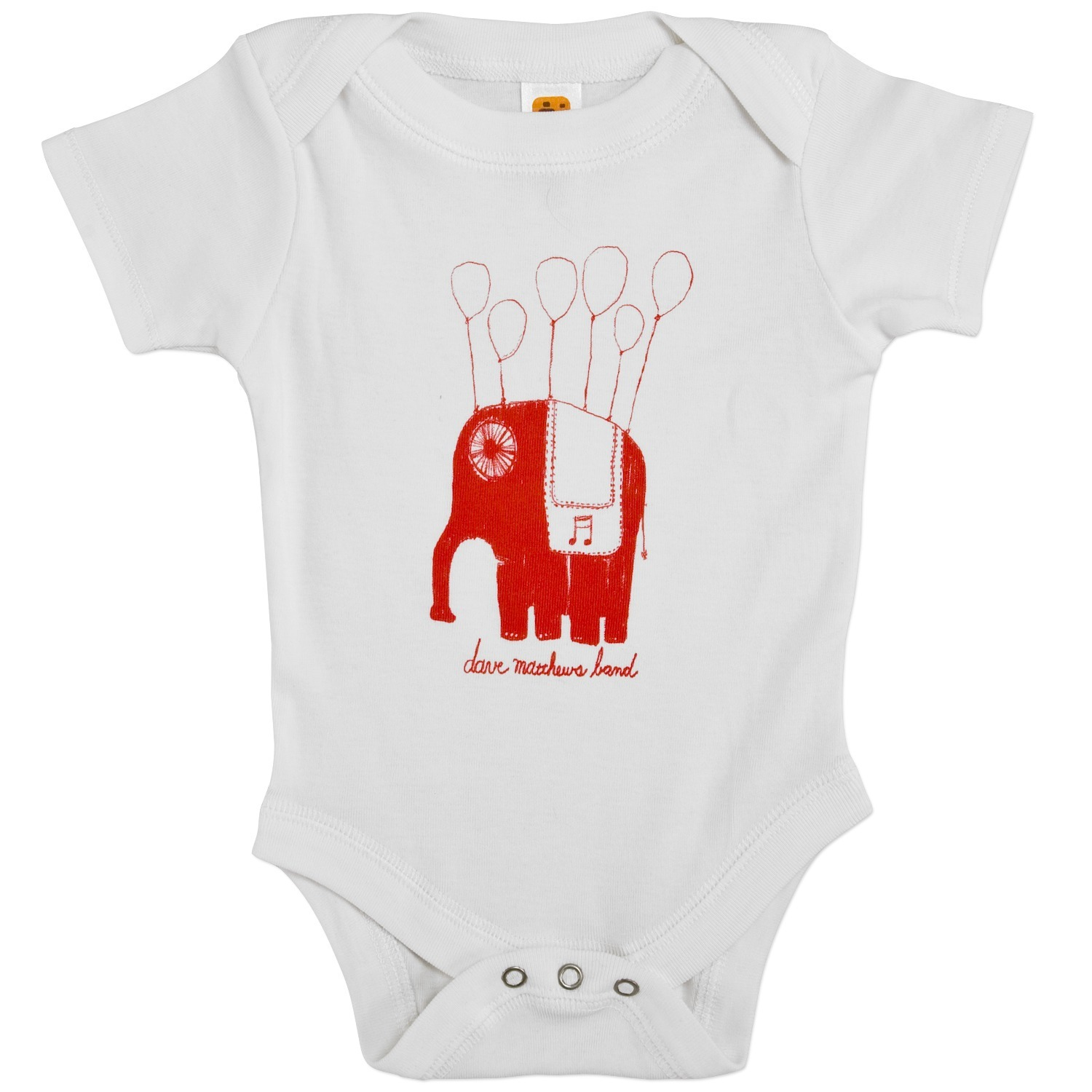Dmb baby floating elephant onesie shop the musictoday merchandise official store