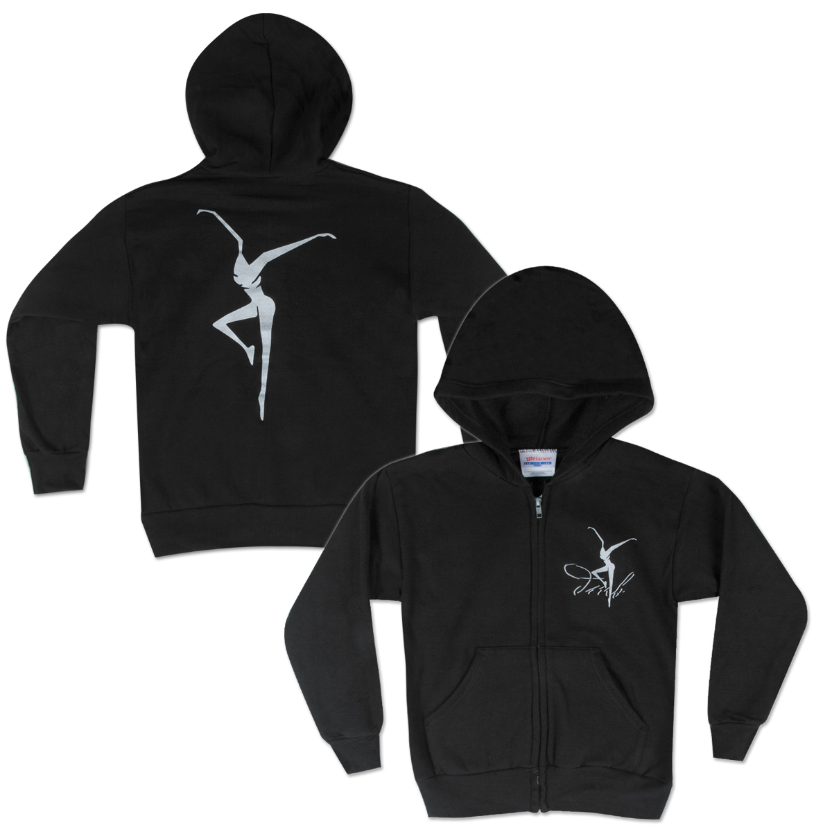 DMB Silver Fire Dancer Youth Zip Hoodie